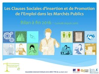 Bilan 2016 des Clauses d'Insertion