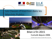 Bilan 2015 des Clauses d'Insertion