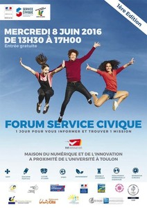 1er Edition - Forum du Service Civique  08juin2016