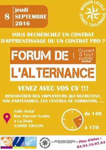 Forum de l'alternance à Toulon sept 2016