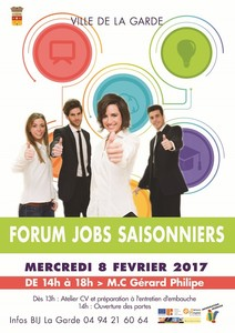 Forum Jobs Saisonniers 08 fev 2017
