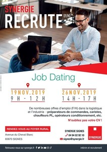 JOB DATING SYNERGIE Recrute